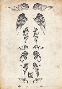 angel wings sketch | via Tumblr
