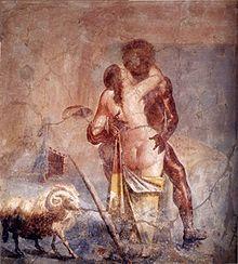 Galatée et Polyphème, fresque romaine de la Maison de la Vieille Chasse à Pompéi, musée archéologique national de Naples