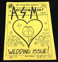Antisocialman #5 Underground Comix Matt Feazell Mini-Comic Signed 1st 1985 #minicomics #MattFeazell #UndergroundComix