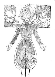 """The Fusion of Black and Zamasu! What evils await?!"" Drawn by: Young Jijii. Found by: #SonGokuKakarot"