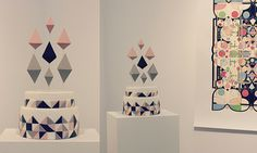 Geometric wedding cake by Fonderia Dolci & Design