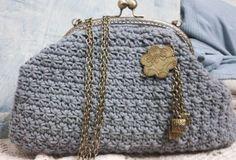 Bolso tejido en algodón portugués con cierre dorado