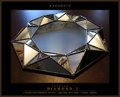KAGADATO. Multi faceted mirror - DIAMOND - 2 . Total property - produced (the vast majority) with the use of technology Tiffany. Backlight, rotary mechanisms other specific hardware.