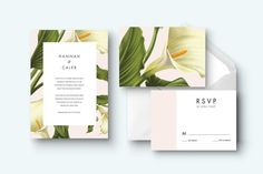 Calla lily printable wedding invitation kit by CustomPrintsNYC