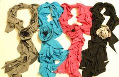 DIY T-shirt scarf ~ The Happy Heart