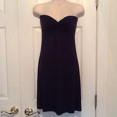 Navy strapless dress NWT Super soft versatile dress that can be dressed up or down Ivy & Leo Dresses Strapless