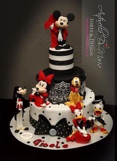 Mickey mouse cake | https://lomejordelaweb.es/