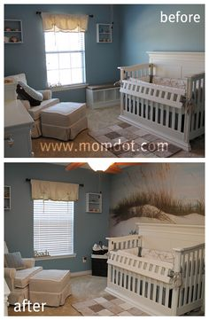 cool mural for baby room or sun room!