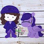 Fia Doll ITH Embroidery Design NON Paper doll