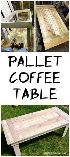Easy Pallet Coffee Table - 101 Pallet Ideas