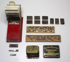John Bull Printing Press Organized Neatly