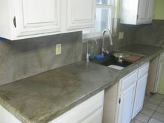 1000 images about concrete countertops on pinterest for Concrete kitchen countertops reviews