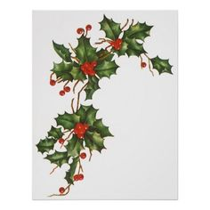 Sprig of Holly and Berries - Google zoeken