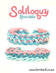 Soliloquy Loom Band Bracelet Tutorial - Machines et élastiques : http://www.creactivites.com/268-elastiques-loom