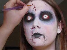 zombie makeup for Halloween - Halloween Costumes 2013 Holidays Halloween, Spooky Halloween, Halloween Crafts, Halloween Costumes, Halloween Halloween, Halloween Decorations, Zombie Face, Zombie Makeup, Halloween Face Makeup