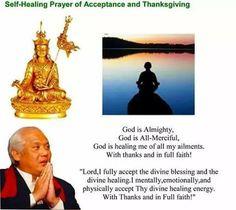 Self healing prayer