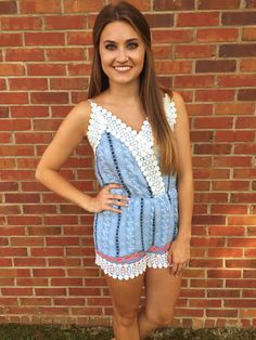 lace romper. #shoplovejune #summer #ootd #fashion #boutique