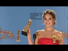 Backstage with Jennifer Lawrence at the Golden Globes. The beginning is priceless
