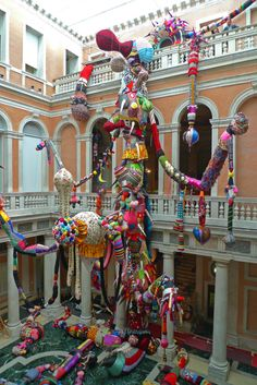 amazing fiber art installation by Joana Vasconcelos, titled Contamination, Venice 2008-2010