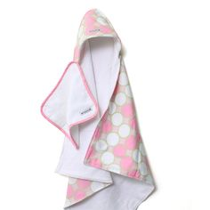 Tag Pink Hooded Towel Set