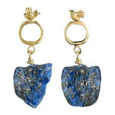 by / natalie frigo Birds with Lapis Earrings ($158) ❤ liked on Polyvore featuring jewelry, earrings, accessories, drop, post earrings, bird jewelry, earrings jewelry et bird earrings