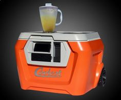 The Coolest Cooler: I cant wait for this product to debut. Blender, bluetooth speaker, bottle opener, usb adapter, and a light to see inside cooler at night. Genius!