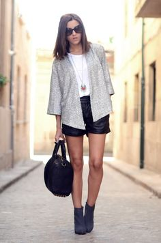 leather shorts and sequined jacket - Lovely Pepa by Alexandra