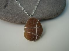 Sea glass wire wrapping