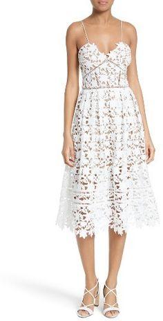 88f0c54f30a Self-Portrait  Azaelea  Lace Fit   Flare Dress - ShopStyle Cocktail