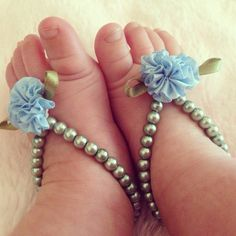 Baby barefoot sandals baby girl infant baby shower by Aupetitpied, $19.99