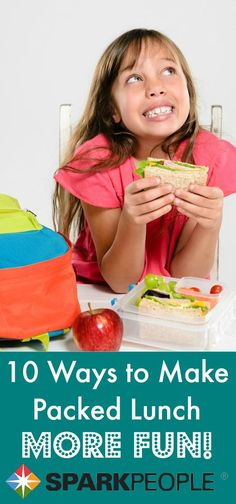 Happier Meals: Cool School Lunch Strategies. Great tips for elementary school kids! |via @SparkPeople #lunch #kids #healthy