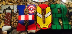 Avengers- Acrylic Painted MDF wall letters