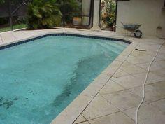Concrete Brick Coping Dark Pebble Spa Pool Custom Design