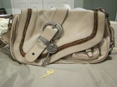 71d5138a22e0 Authentic Christian Dior Gaucho in Ivory Cream Leather