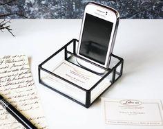 Elegant Handmade Smart Phone Holder Business Card by LaurusArt