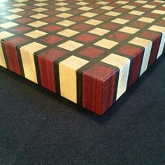 Checker Board style Cutting Board by ArtisanWoodwright on Etsy Woodworking Guide, Custom Woodworking, Woodworking Projects Plans, Teds Woodworking, End Grain Cutting Board, Diy Cutting Board, Wood Cutting Boards, Chess Boards, Diy Wood Projects