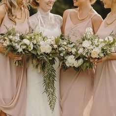 another beautiful wedding featuring the lotus dress in blush from our #bridesmaid collection ❤️