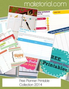Free Planner Printables for organization and TTD!