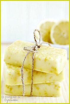 DIY- How to Make Refreshing Lemon Soap Bars