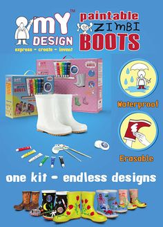 Included in the Paintable Boots & Wellies Kit are erasing pads that work like magic! With these pads, you and your kids can erase your previous creative boots designs, giving you unlimited chances to create more masterpieces and fun bonding moments together.