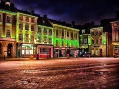 Market Square by night..