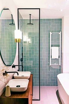35 Lovely Bathroom Decor Ideas Match With Your Home Design Style bathroom bathroomdecor bathroomdecorideas Bathroom Layout, Bathroom Interior Design, Tile Layout, Bathroom Designs, Home Design, Design Ideas, Design Trends, Bath Design, Design Inspiration