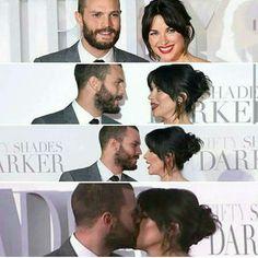 Jamie Dornan and his wife Amelia Warner Fifty Shades Darker London premiere 2017