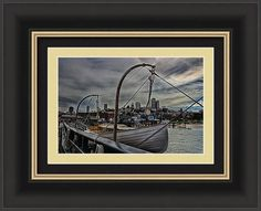 Boat Framed Print featuring the photograph San Francisco In The Distance by Marnie Patchett