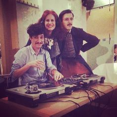 The RedHead - Rossana Diana, MarcoKid and the DJ in a nice place in Milano, Cascina Cuccagna