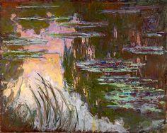 Claude Monet / Water-Lilies, Setting Sun, c. 1907