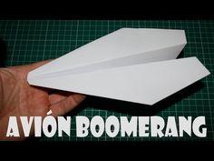 Cómo hacer un Avión Boomerang de Papel que Vuelve - YouTube