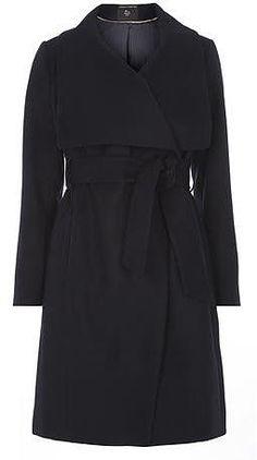 Womens navy coat from Dorothy Perkins - £47.20 at ClothingByColour.com