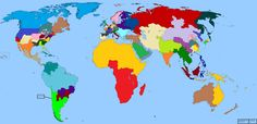 The world divided into regions with a GDP of 1 trillion dollars. Source: DMan9797 (reddit)