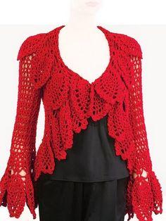 Crochet Jacket, Crochet Blouse, Crochet Tops, Sweater Jacket, Crochet Clothes, Plus Size, Lady, Skirts, Sweaters